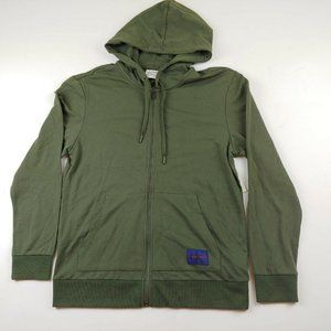 Calvin Klein Men's Full Zip Jacket Hooded Green